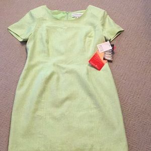 Ladies linen blend dress in size 10 by ADOLFO